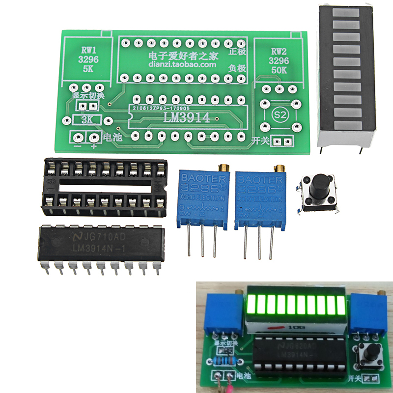 LED Power Indicator Kit DIY Battery Tester Module For 2 4-20V