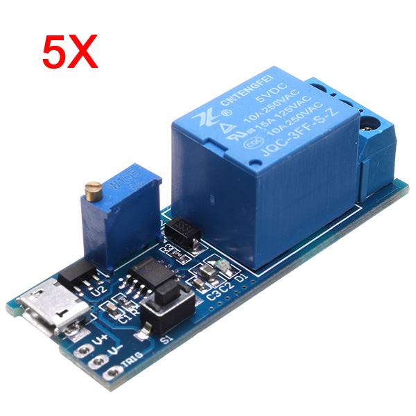 5Pcs 5V-30V Wide Voltage Trigger Delay Timer Relay Conduction Relay