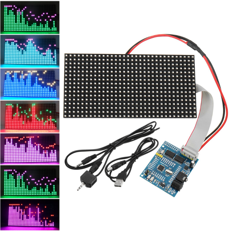 Pleasant 16X32 Colorful Music Spectrum Stm32 Led Lights Frequency Display Wiring Cloud Staixuggs Outletorg