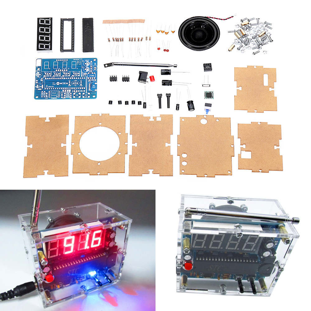 Electronic Components & Supplies Dc 4.5v-5.5v Diy Mini Digital Fm Radio 87mhz-108mhz 2w 8ohm Speaker Electronics Kit Module 100% Guarantee