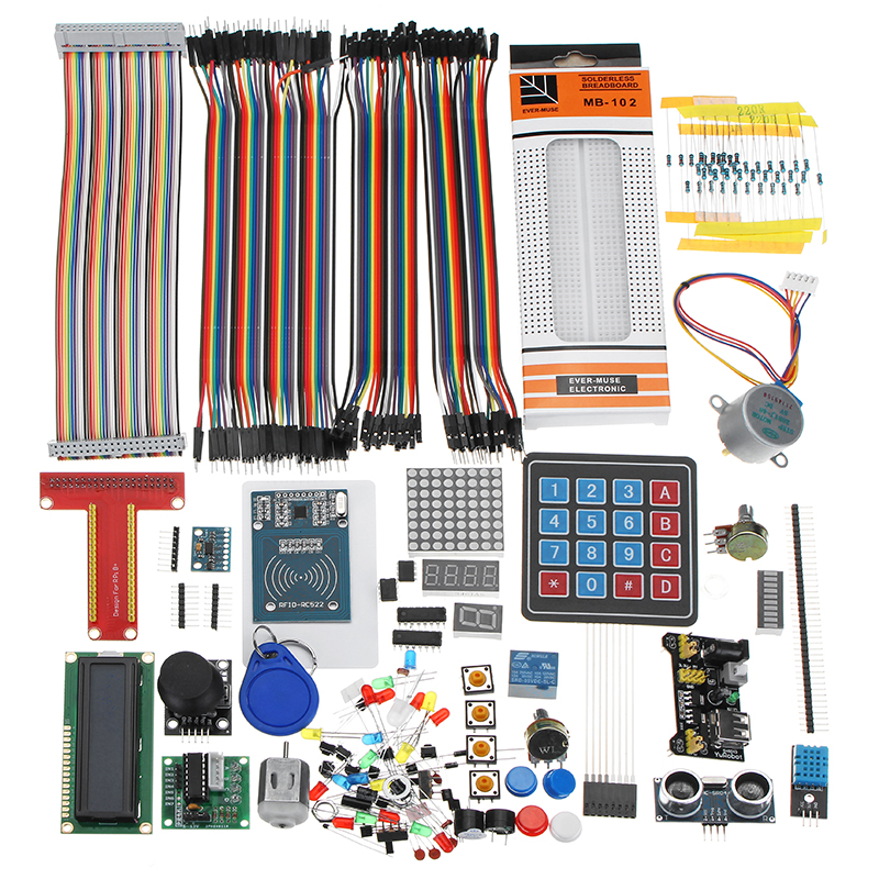 LCD1602 Breadboard DuPont Cable RFID Starter Learning Kit